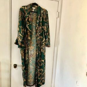 Victoria's Secret Silk Robe Size Medium